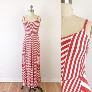 Anthropologie Chevron Jersey Maxi Dress Long T848